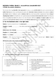 English worksheet: Revision papers Module 4 Grade 9