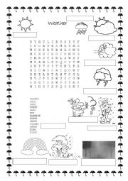 english worksheets the weather worksheets page 44. Black Bedroom Furniture Sets. Home Design Ideas