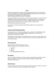 English Worksheet: Syntax