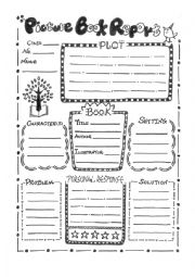 English Worksheet: Picture Book Report