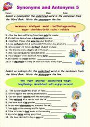 Synonyms vs Antonyms 5