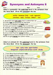 Synonyms vs Antonyms 6