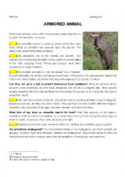 English Worksheet: Reading Comprehension animal