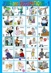 English Worksheet: Jobs and Occupations from A to C - 1. Pictionary. + KEY