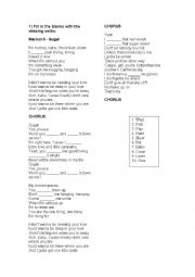 english worksheets using songs worksheets page 506. Black Bedroom Furniture Sets. Home Design Ideas
