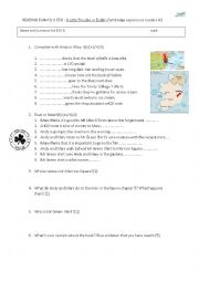 English Worksheet: A little problem in Dublin. READING BOOK TEST.Cambridge