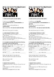 English Worksheet: Song Heroes by Wallfowers