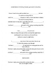 English Worksheet: Something stupid, Frank Sinatra