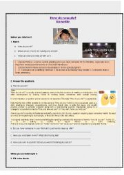 English Worksheet: How do you do from Roxette