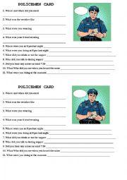 English Worksheet: ALIBI game- POLICEMEN vs SUSPECTS