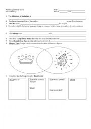 English Worksheet: Middle ages / Feudalism