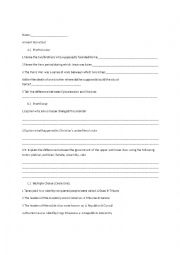 English Worksheet: Ancient Rome Test