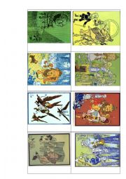 English Worksheet: Wizard of Oz - Put the pictures in the correct order.