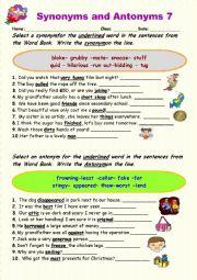 Synonyms vs Antonyms 7