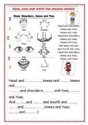 English Worksheet: Sing the Body