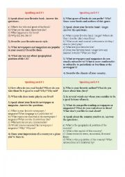 English Worksheet: Term test in speaking