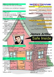 English Worksheet: James Arthur - Safe inside