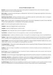 English Worksheet: Logistics Definition