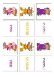 English Worksheet: COLORS - MEMORY GAME