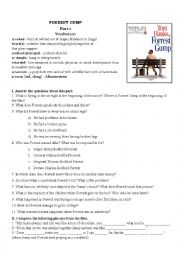 Forrest Gump Movie Worksheet Part I