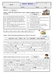 English Worksheet: services and entertainment language activities