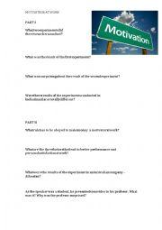 English Worksheet: Motivation at work - business English