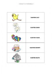 English Worksheet: Easter Domino Game