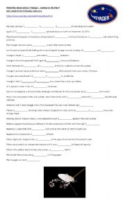 English Worksheet: Voyager - Journey to the Stars