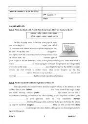 9 Form Test 2 Semester 2