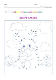 English Worksheet: Bunny Easter and Colors