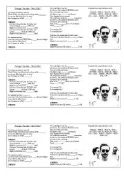 English Worksheet: SONG: Portugal. The man