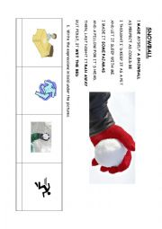 English Worksheet: SNOWBALL POEM