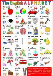 The English Alphabet. POSTER 1