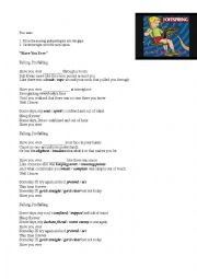 English Worksheet: Present Perfect Song