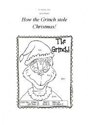 English Worksheet: Grinch part 1
