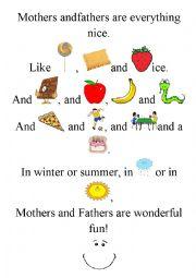 English Worksheet: Funny poem ;)