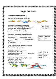 English Worksheet: jingle bells rock
