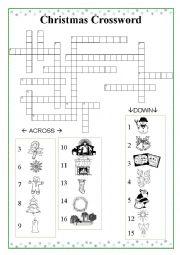 English Worksheet: Christmas Crossword CF2017