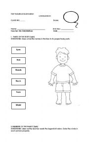 English Worksheet: 1_Language_First_Grading_Periodic