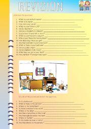 English Worksheet: 2 PAGES WORKSHEET- TARGET STUDENT: ELEMENTARY :)