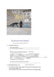 English Worksheet: Banksy graffiti in NYC