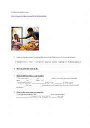 English Worksheet: Michelle Obama  is fighting obesity
