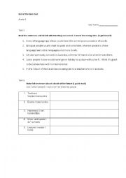 English Worksheet: Global English 8 progress test