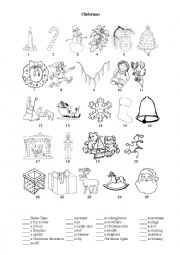English Worksheet: Christmas reading/ activity