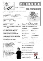 English Worksheet: SONG WORKSHEET - PERFECT - ED SHEERAN