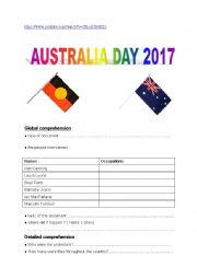 English Worksheet: Australia Day 2017