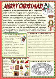 English Worksheet: Christmas new reading