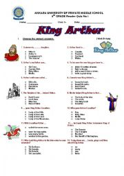 English Worksheet: King Arthur
