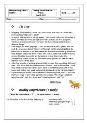 English Worksheet: END TERM TEST2