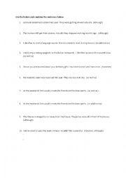 English Worksheet: Linkers / Conjunctions